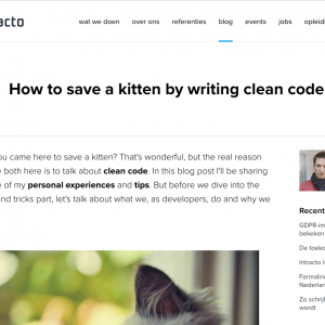 How to save a kitten by writing clean code